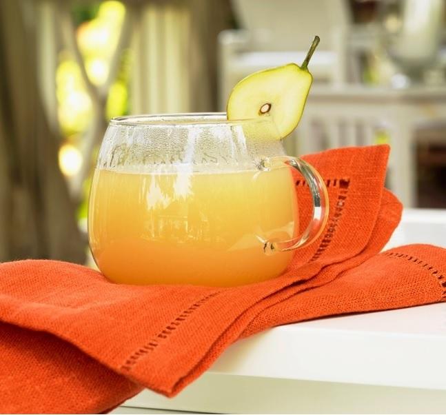 zumo detox naranja, pera, manzana